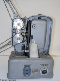 Elmo E-80 8mm projector - Side cover removed showing film drive