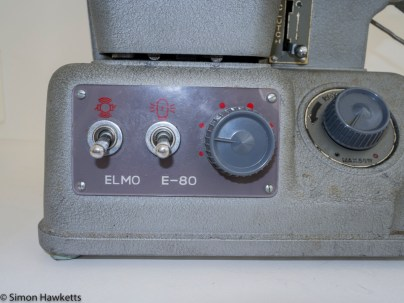 Elmo E-80 8mm projector - Motor and Lamp switch and motor speed control