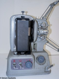 Elmo E-80 8mm projector - Lamp cover removed