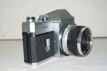 Mamiya/Sekor 500 DTL 35mm SLR camera - Side view showing self timer