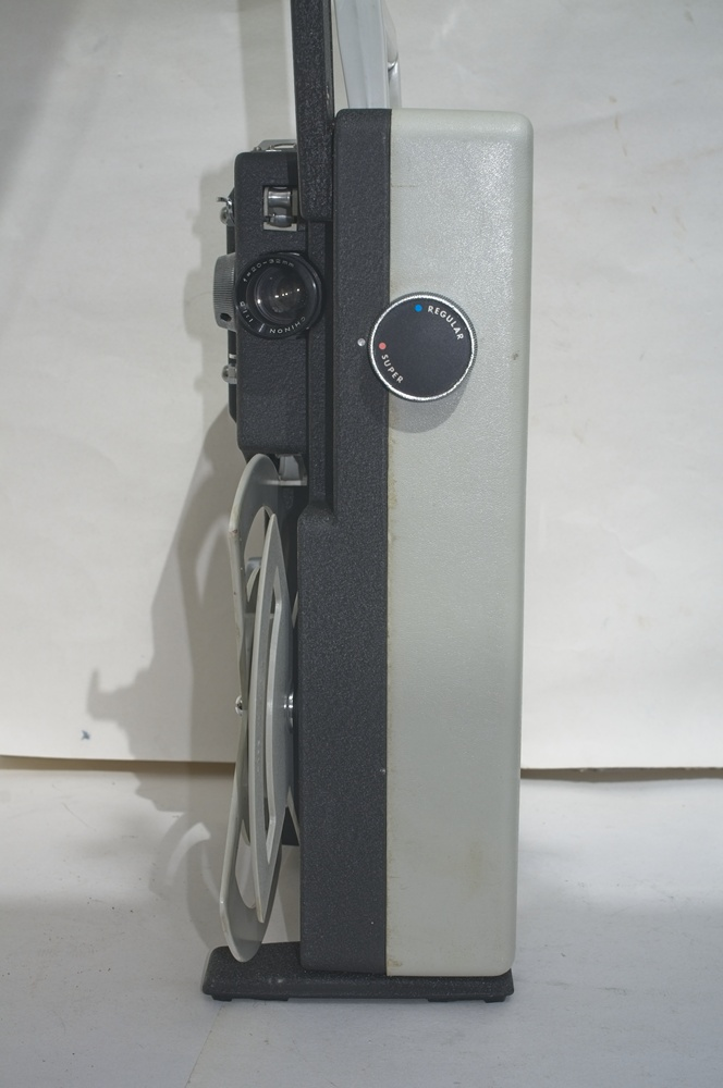 Chinon Universal 8 projector - Front of unit showing Super / Regular change over