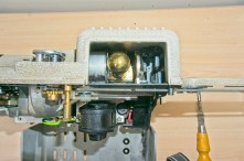 Eumig P8 Automatic 8mm Projector - The lamp inside the lamp housing