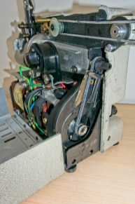 Eumig P8 Automatic 8mm Projector - The new belt and the sticky remains of the old one