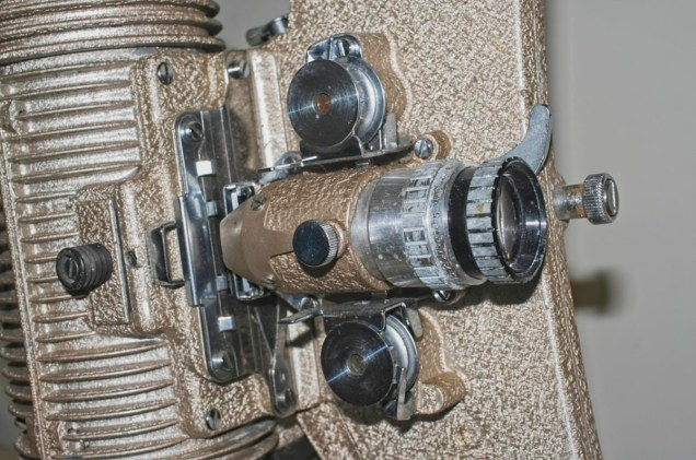 Bell & Howell 606H projector : Lens and film transport