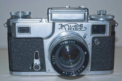 Front of camera with light meter covered