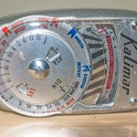 Close up of scale and dial
