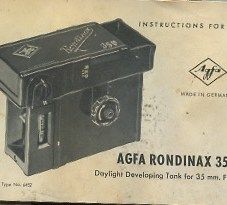 Index page for vintage camera manuals
