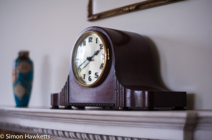 Clock on the mantlepiece