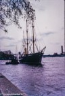 Views around London c1980 on colour slide film - A clipper ship