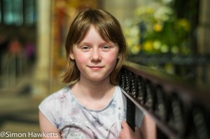 Sony Nex 6 pictures - Portrait of a young girl in York Minster