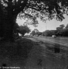 Kodak Brownie Reflex pictures - Contemporary picture taken on outdated film of the road to Hertford