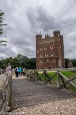 Tattershall castle battle re-enactment - The bridge over the moat and the keep