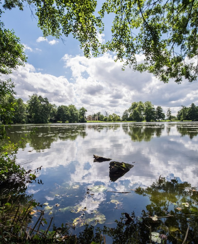 Fuji X-T1 picture showing Reflections at Stowe national trust property