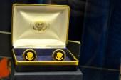 Cufflinks presented to Elvis by US President Richard Nixon [Simon Hooper]