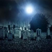 Moonlit Gravestones