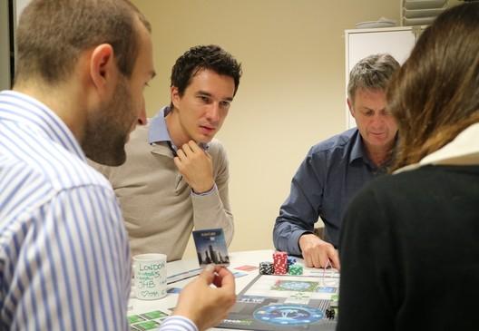Teammates challenge each other through the FreshBiz Game