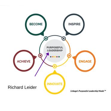 Purposeful Leadership Model- Richard Leider on Purpose