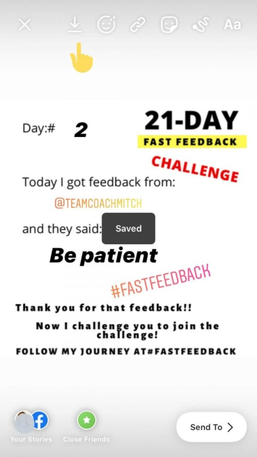How to share your 21-Day Feedback on Instagram Stories