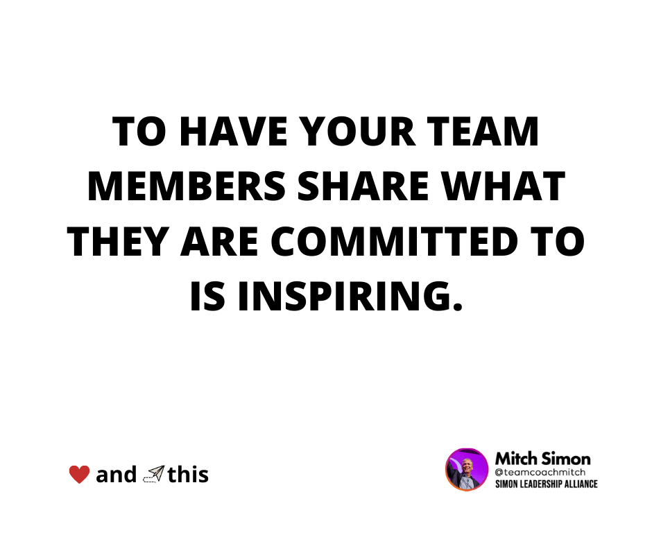 create a committed remote team by having your team members share their committments