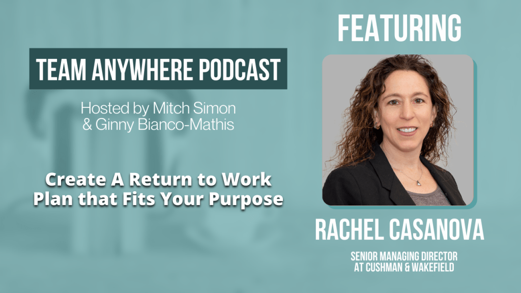 Create a Return to Work Plan that fits your purpose EP 36 Team Anywhere Leadership Podcast
