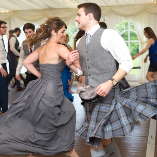 Ceilidh dancing at a wedding near Perth 4