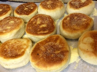 Housemade English Muffins. Simons food catering.