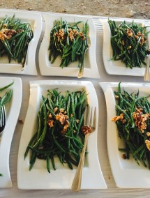 Hericot Verts with toasted walnuts