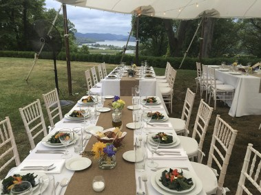 Outdoor wedding in the Hudson Valley