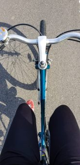 Manja rides too