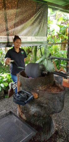 Coffee being roasted