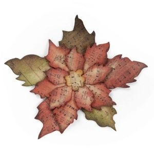 Tim Holtz Sizzix Bigz Die TATTERED POINSETTIA 658261
