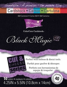 Core'Dinations HOCUS POCUS 4.25 x 5.5 Black Magic Cardstock 80lb 40 Sheets