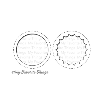 My Favorite Things PEEK A BOO CIRCLE WINDOW Die-Namics MFT MFT568