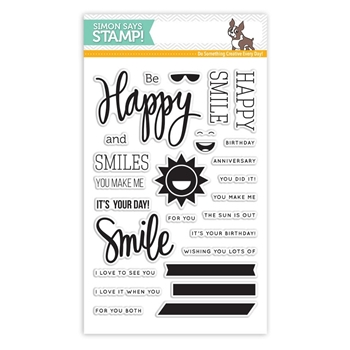 Simon Says Clear Stamps HAPPY AND SMILE sss101526