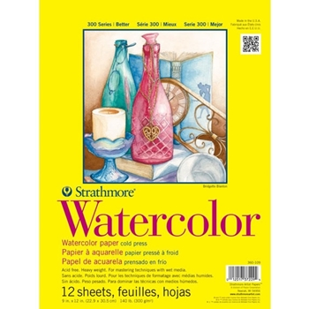 Strathmore WATERCOLOR PAPER PAD 9x12 Bound 360109