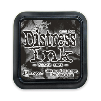 Tim Holtz Distress Ink Pad BLACK SOOT Ranger TIM19541