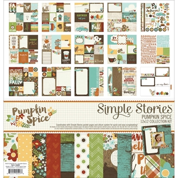 Simple Stories PUMPKIN SPICE 12 x 12 Collection Kit 4600