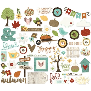 Simple Stories PUMPKIN SPICE Ephemera Bits And Pieces 4629
