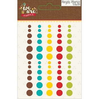 Simple Stories WE ARE FAMILY Enamel Dots 4731