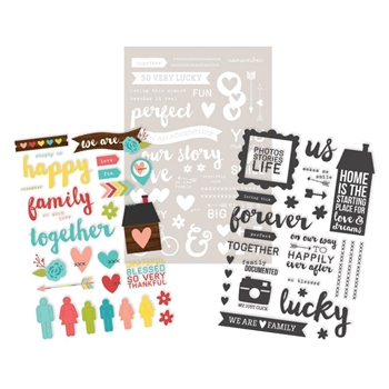 Simple Stories WE ARE FAMILY Photo Stickers 4733