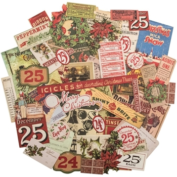 Tim Holtz Idea-ology FESTIVE Ephemera Pack TH93241*