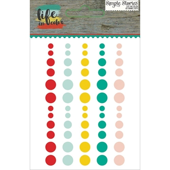 Simple Stories LIFE IN COLOR Enamel Dots 5031
