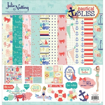 PhotoPlay JULIE NUTTING NAUTICAL BLISS 12 x 12 Collection Pack NB2246