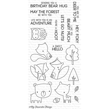 My Favorite Things FOREST FRIENDS Clear Stamps CS117