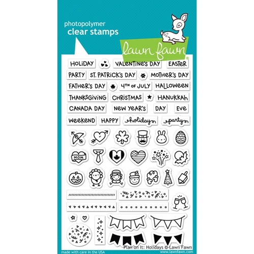 Lawn Fawn PLAN ON IT HOLIDAYS Clear Stamps LF1231