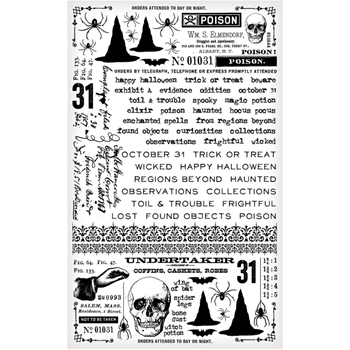 Tim Holtz Idea-ology GOTHIC Remnant Rubs TH93308