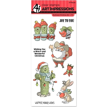 Art Impressions SOUTHWEST CHRISTMAS Clear Stamps 4787