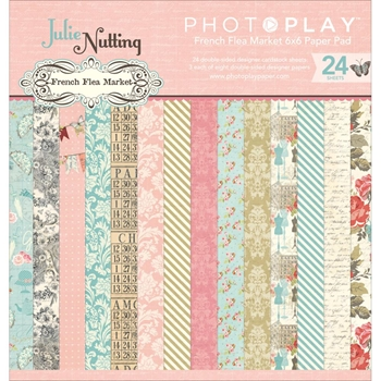 PhotoPlay FRENCH FLEA MARKET 6 x 6 Paper Pad FM2503