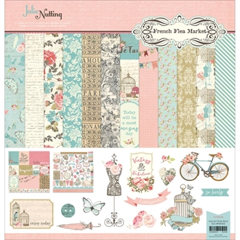 PhotoPlay FRENCH FLEA MARKET 12 x 12 Collection Pack FM2502