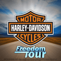 This is the official 300x300 pixel logo of the Harley Davidson Freedom Tour IGT level up slot, featuring the Harley Davidson logo. By clicking on this picture you will open the game's webpage, where you can try out it this online digital slot machine from IGT made in 2017.